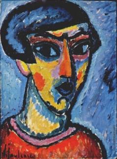 Явленский А. Г. Портрет в голубых тонах