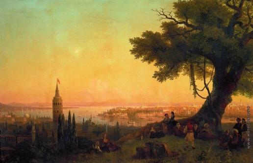 Айвазовский И. К. Вид Константинополя при вечернем освещении