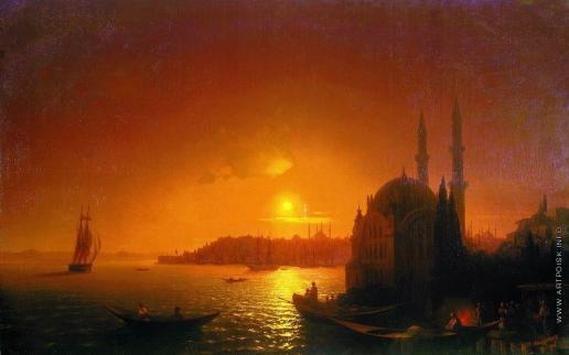 Айвазовский И. К. Вид Константинополя при лунном освещении
