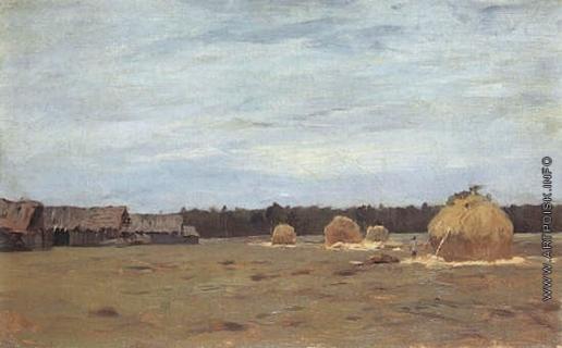 Левитан И. И. Постом в деревне
