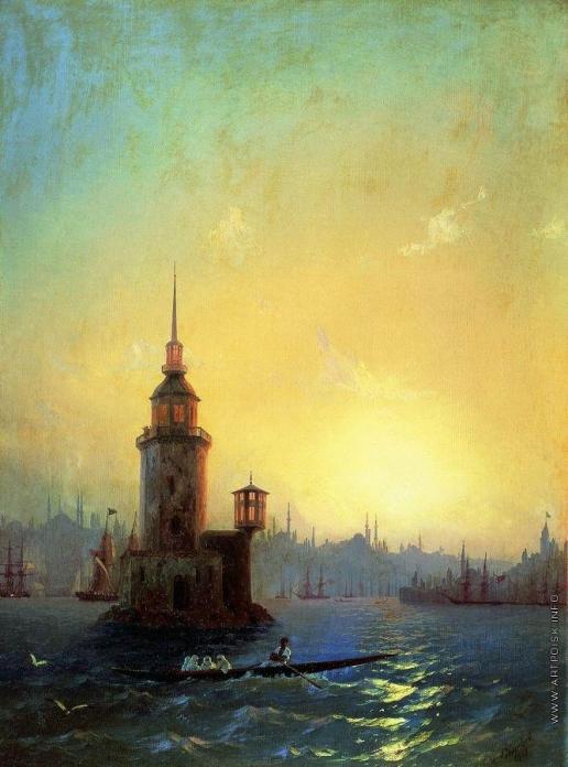Айвазовский И. К. Вид Леандровой башни в Константинополе