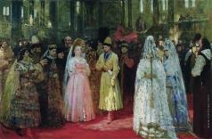 Репин И. Е. Выбор царской (великокняжеской) невесты. Эскиз