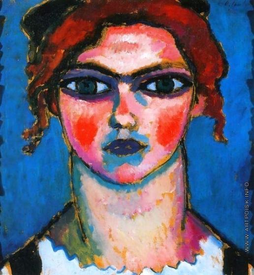 Явленский А. Г. Юная девушка с зелёными глазами