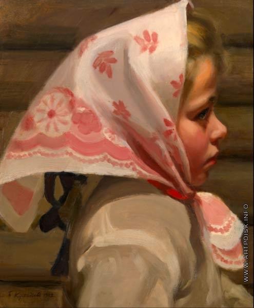 Кустодиев Б. М. Девочка в платке