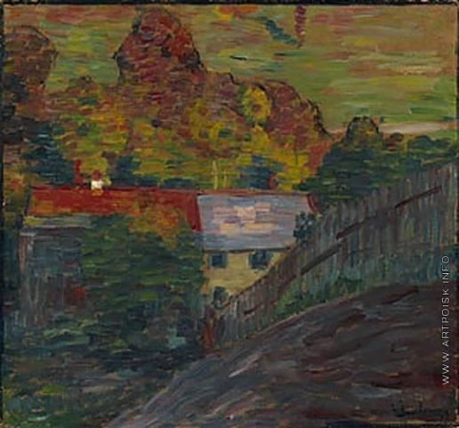 Явленский А. Г. Пейзаж с красной крышей. Вассербург
