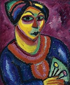 Явленский А. Г. Женщина с зелёным веером
