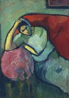 Явленский А. Г. Сидящая женщина