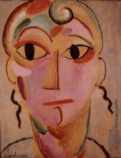 Явленский А. Г. Таинственная голова (портрет Елены, жены художника)