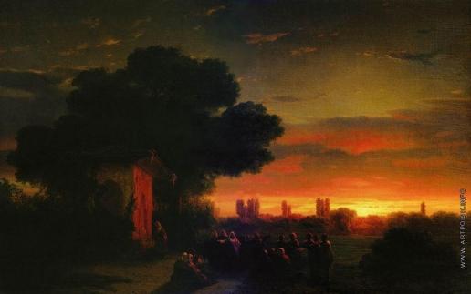 Айвазовский И. К. Вид в Крыму при закате солнца