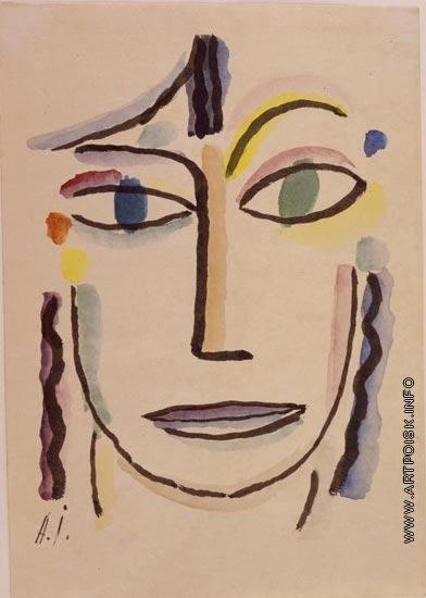 Явленский А. Г. Женская голова с распахнутыми глазами
