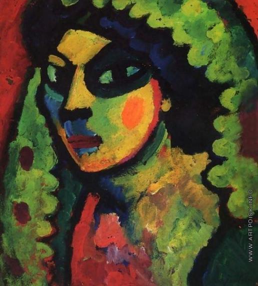 Явленский А. Г. Сицилийская женщина в зелёной шали