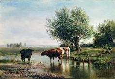 Клодт М. К. Пейзаж с коровами