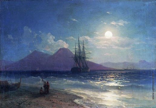 Айвазовский И. К. Вид моря ночью