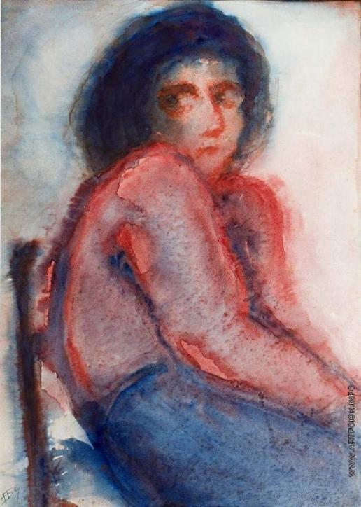 Бубнова В. Д. В красном. Женский портрет