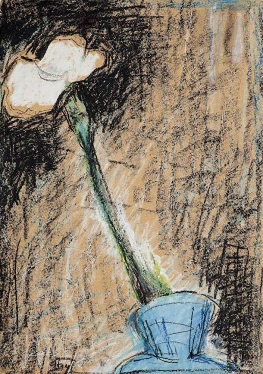 Бубнова В. Д. Белый цветок в голубой вазе