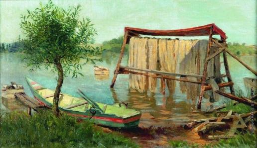 Клодт М. К. Пейзаж с озером