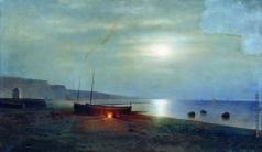 Клодт М. К. Ночь на морском берегу