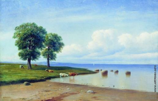Клодт М. К. Коровы на берегу моря