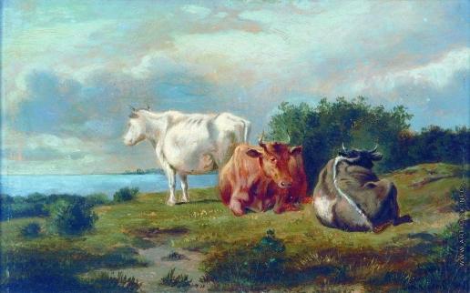 Клодт М. К. Три коровы