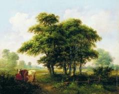 Клодт М. К. Летний пейзаж с коровами
