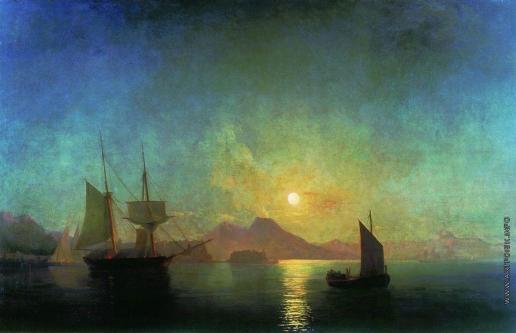 Айвазовский И. К. Вид на Везувий в лунную ночь