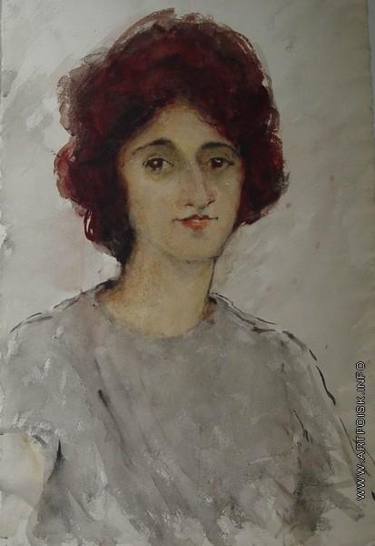 Бубнова В. Д. Портрет молодой женщины