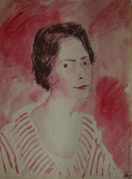 Бубнова В. Д.  Женщина в полосатой блузе