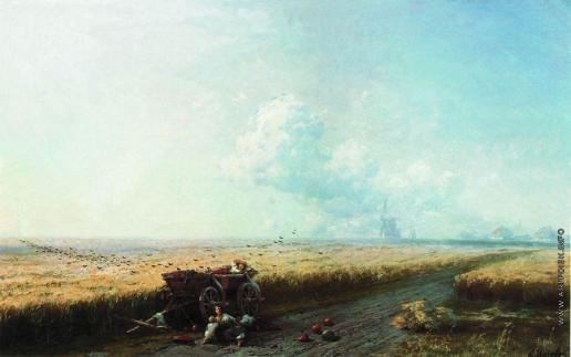 Айвазовский И. К. Во время жатвы на Украине