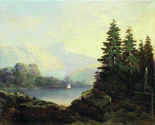 Клодт М. К. Швейцарский вид