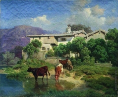 Клодт М. К. Ферма в горах Швейцарии