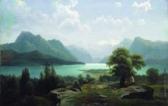 Клодт М. К. Озеро в горах
