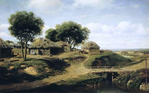 Клодт М. К. Село в Орловской губернии