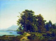 Клодт М. К. Пейзаж с горным озером