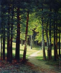 Клодт М. К. Лесной пейзаж (Аллея в березовой роще)