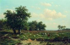 Клодт М. К. Пейзаж с овцами
