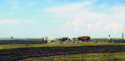 Клодт М. К. Осенняя пахота в Малороссии