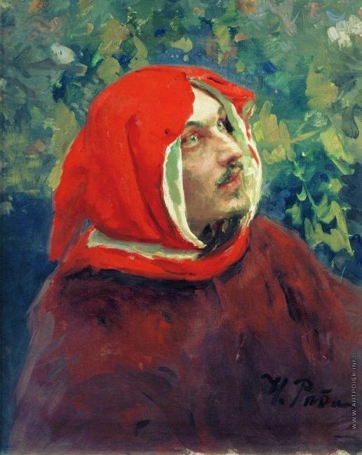 Репин И. Е. Портрет Данте. Этюд