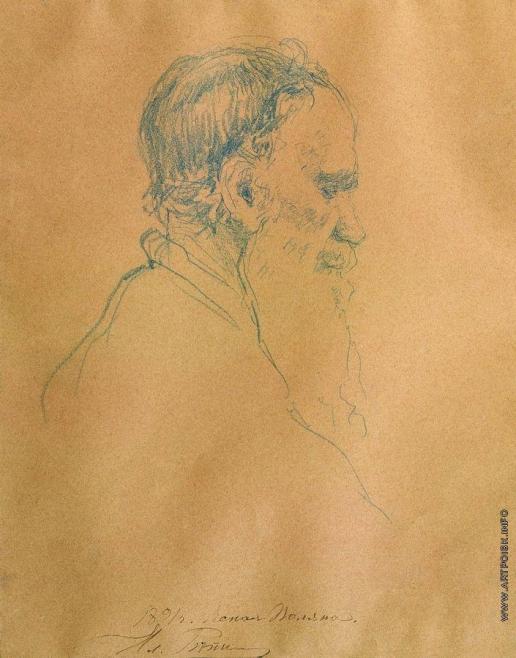 Репин И. Е. Портрет Л.Н.Толстого