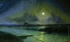 Айвазовский И. К. Восход луны в Феодосии