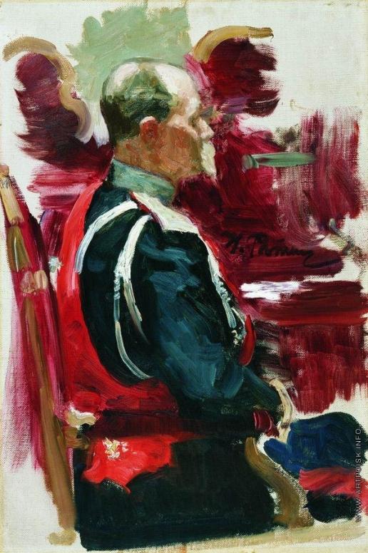 """Репин И. Е. Этюд к картине """"Торжественное заседание Государственного совета 7 мая 1901 года"""""""