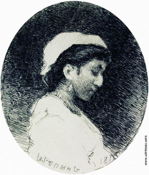 Репин И. Е. Женщина в чепце