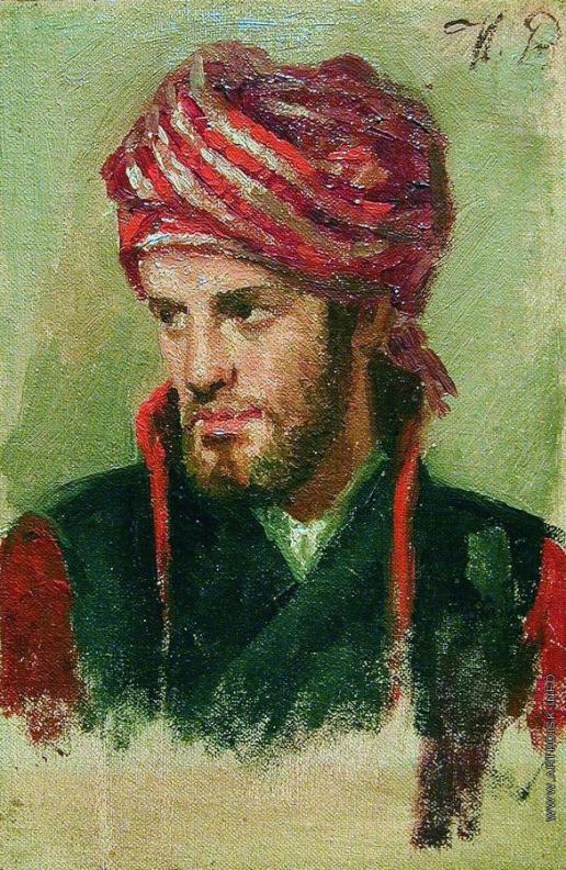Репин И. Е. Портрет молодого человека в чалме
