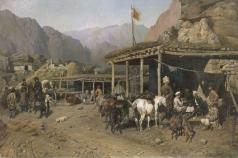 Ковалевский П. О. Привал кавалеристов