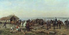 Ковалевский П. О. Переправа через Дунай