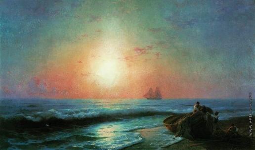 Айвазовский И. К. Восход солнца у берегов Ялты
