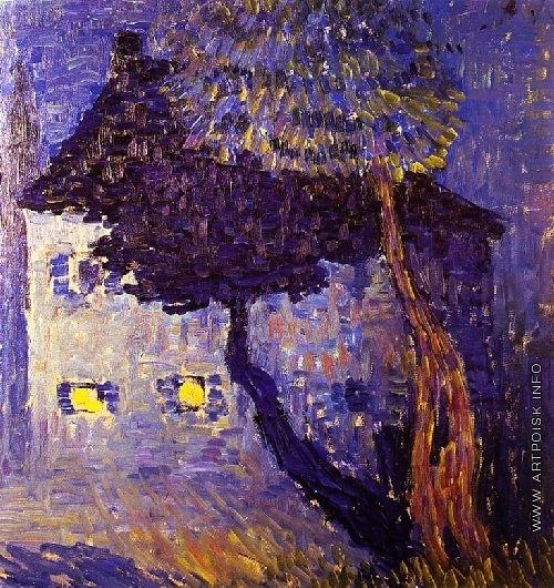 Явленский А. Г. Дом среди деревьев