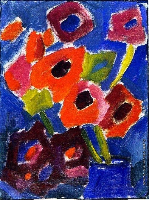 Явленский А. Г. Цветы в голубой вазе