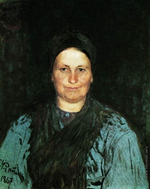 Репин И. Е. Портрет матери художника Т.С.Репиной