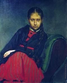 Репин И. Е. Портрет В.А.Шевцовой, впоследствии жены художника