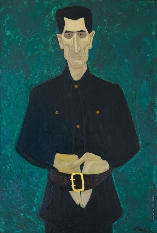 Попков В. Е. Мужской портрет в черном
